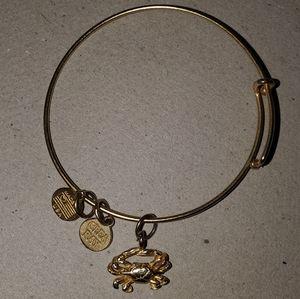 Crab Charm Bangle Bracelet